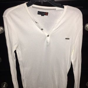 Guess White Long sleeve size small